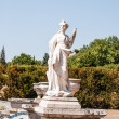 Antique statue in park of Queluz — Stock Photo
