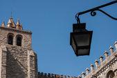 Church facade in Evora — Stock Photo