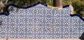 Portuguese ceramic tile painting — Stock Photo