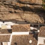 Setenil de las Bodegas is one of the pueblos blancos (white vill — Stock Photo