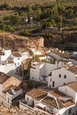 Setenil de las Bodegas is one of the pueblos blancos (white vill — Stock Photo