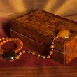 Amber necklaces with box  — Stock Photo #35002783