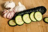 Cetriolo e aglio — Foto Stock