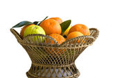 Orange fruits in basket — Stock Photo