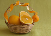 Oranges on green — Stock Photo