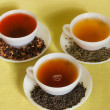 Cups of varies of  tea — Stock Photo