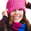 Playful Winter Woman — Stock Photo