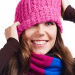 Playful Winter Woman — Stock Photo #12612819