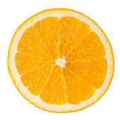 Slice of orange isolated on white background — 图库照片