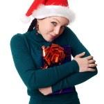 Christmas woman smiling — Stock Photo #1638298