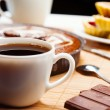 Breakfast. Coffee and cake. — Stockfoto
