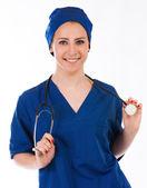Schöne krankenschwester portrait — Stockfoto