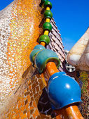 Typical blue ceramic pattern from Park Guell, Barcelona — Foto Stock