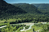 Summer mountains landscape bird's eye view — Stock Photo