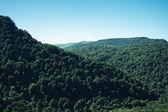 Zomer bergen landschap vogelperspectief uitzicht — Stockfoto