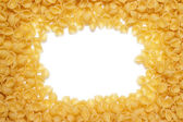 Macaroni background with copy space in the middle — Stock Photo