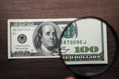 Hundred dollars banknote authentication — Stock Photo