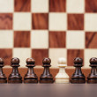 Uniqueness concept over chessboard background — Stock Photo
