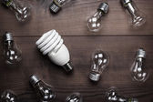 Bulb uniqueness concept — Stock Photo