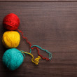 Knitting balls of threads — Stock Photo