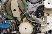 Retro video cassette recorder mechanism — Stock Photo