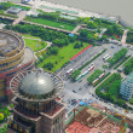Huangpu bird eye view — Stock Photo #1025459