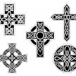 Stock Vector: Set of celtic crosses