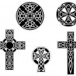 Set of vintage celtic crosses — Stock Vector #13560726