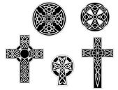 Set of vintage celtic crosses — Stock Vector