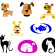 Pets icons — Stock Vector #14553813