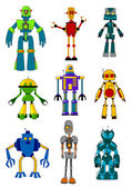 Mechanical robots — Stock Vector