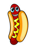 Cartoon hotdog — Stock Vector
