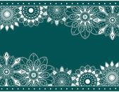 花の要素と抽象的な境界線 — ストックベクタ