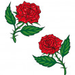 Two red cartoon roses — Stock Vector #43174417