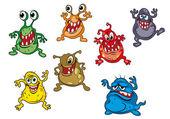 Danger cartoon monsters — Stock Vector