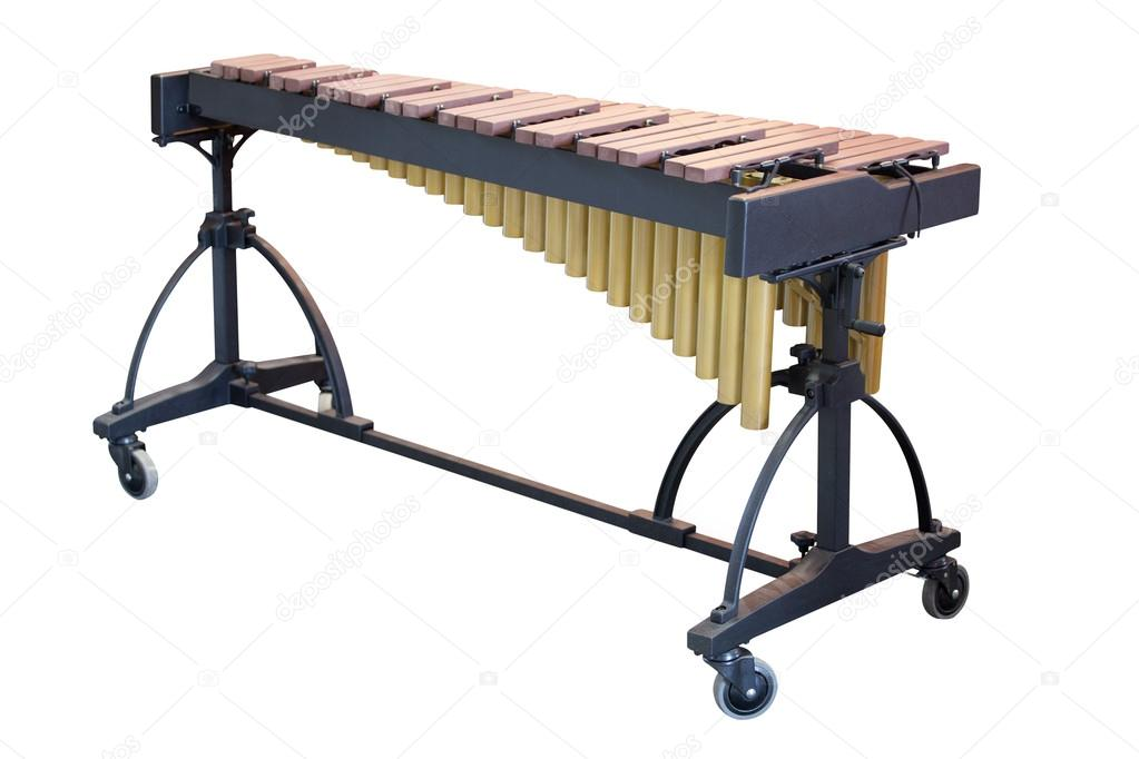 The image of a xylophone under a white background  Stock Photo #13404988