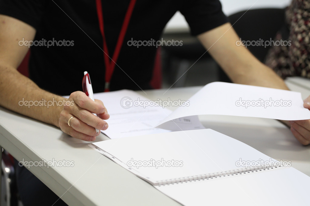 The image of a student at an examination — Stock Photo #14132057