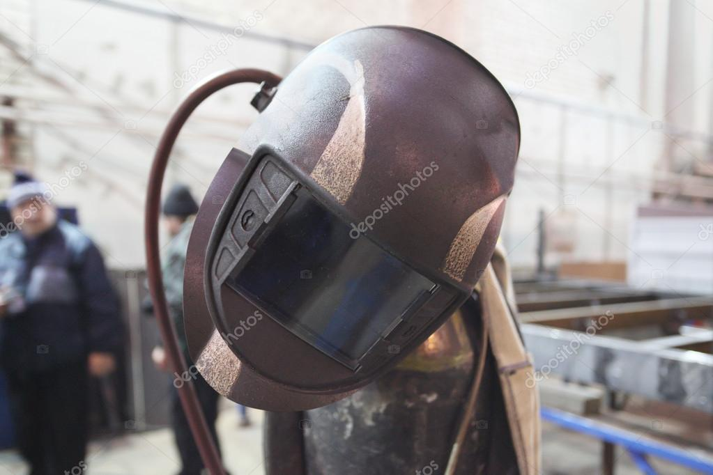 The image of a welder's helmet — Stock Photo #15619261