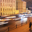 Night traffic in Moscow — Stock Photo