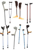 Crutches and prosthetic devices — Stock Photo