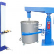 Stock Photo: Industrial mixer and robot airbrush