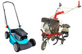 Cultivator and lawn-mower — Stock Photo