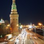 Traffic near Moscow Kremlin — Stock Photo