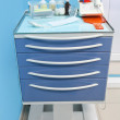 Medical movable bedside-table — Stock Photo