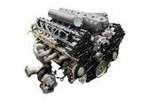 Um motor isolado sob o fundo branco — Fotografia Stock