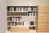 Bookcase — Stockfoto