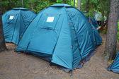 Acampamento turístico — Foto Stock