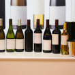 Wine bottles — Stock Photo