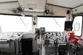 Trane operator's cab — Stockfoto