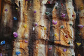 Artificial climbing wall indoor — 图库照片